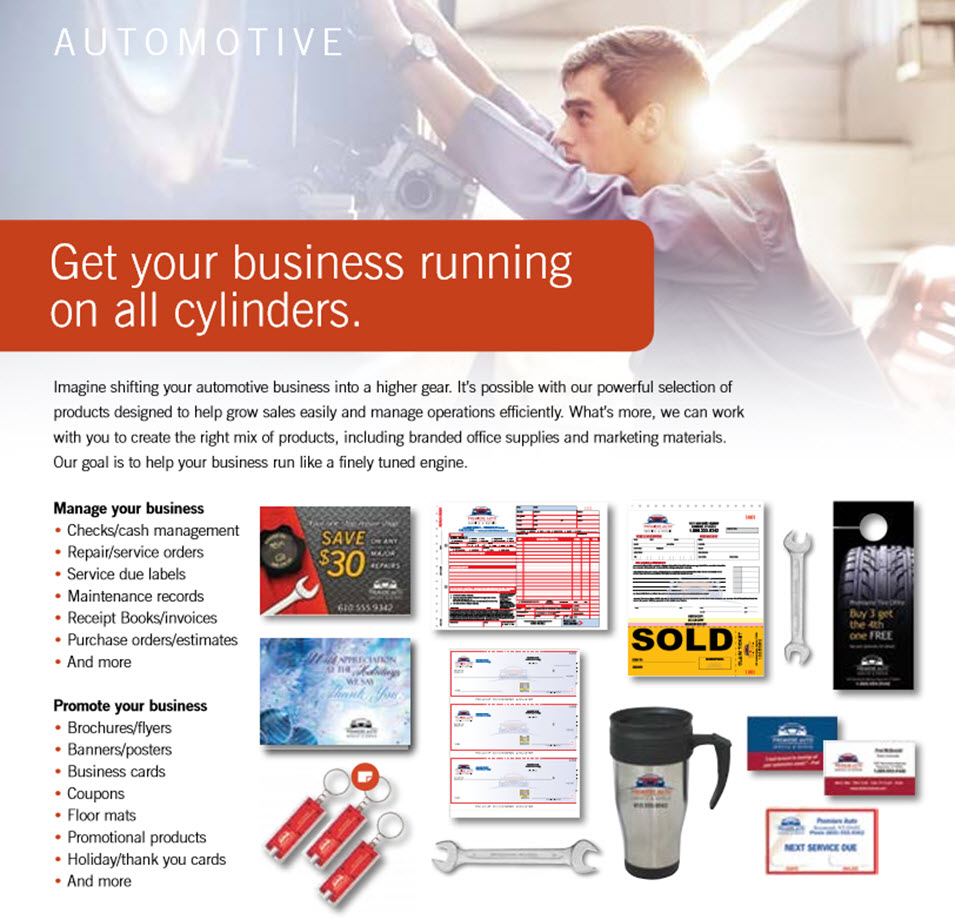 automotive business forms and marketing